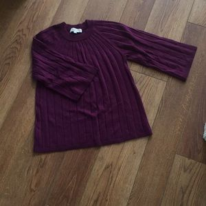 Eggplant Loft Sweater with bell sleeves